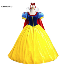 Kimring Snow White Princess Halloween Costume Adult Women Fairy Fantasy Costume Cosplay Fancy Dress(China)