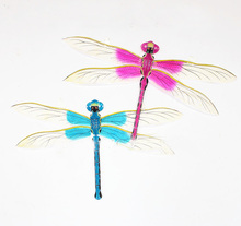 free shipping high quality chinese traditional dragonfly kite decorate kites toy silk with bamboo paper dragon kite toy flying