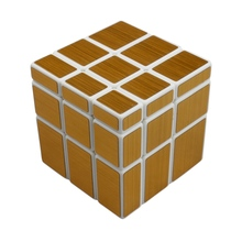 New Arrival 57mm 3x3x3 Mirror Blocks Cast Coated Magic Cube Puzzle Educational Toys For Children Kids - Golden/Sliver
