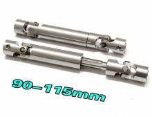 2pcs Steel Drive Shafts CVD 110-155mm 90-115mm Heavy Duty For 1/10 RC Crawler RC4WD D90 Axial SCX10 Container Truck Tamiya CC01