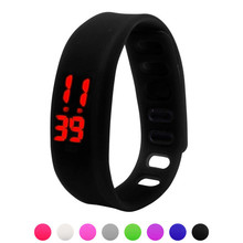 Womens Mens Rubber LED Watch Date Sports Bracelet Digital Wrist Watch Easy Clasp Candy Colors Watches for Lovers Wholesale 30A24