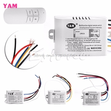 220V 1/2/3 Ways Wireless ON/OFF Lamp Remote Control Switch Receiver Transmitter #G205M# Best Quality