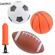 Loozykit chico juguete suave de goma Rugby baloncesto fútbol deporte de los  niños Bola de juguete 98e812a839fbd