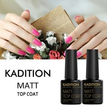 KADITION Transparent Color Nail Gel Polish Matte Art UV LED Matt 8ml Gel Nail Polish Surface No Light Soak-Off Matt Top Coat(China)