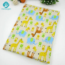 50*160cm/piece Giraffe Elephant Animal Printed Cotton Fabric for Baby Bedding Textile Room Decoration Handicraft Sewing Tissu(China)