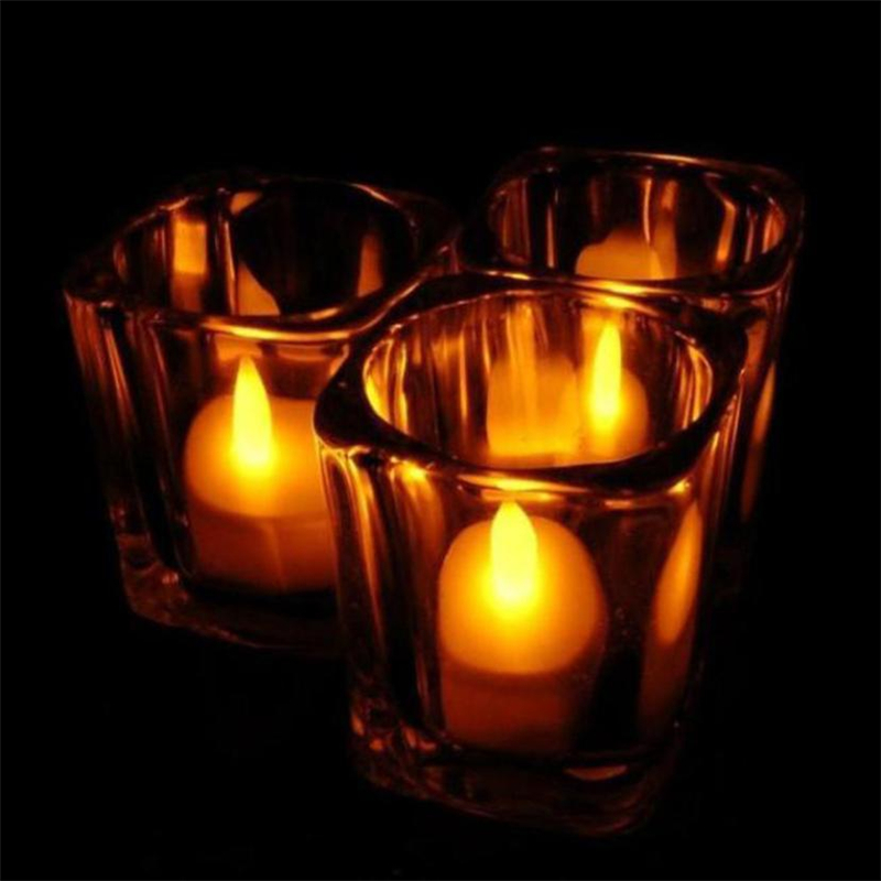 6pc LED Tea Light Candles Realistic Battery-Powered Flameless Candles03