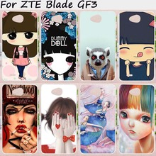 Mobile Phone Cases For ZTE Blade GF3 Cover 4.5 inch T320 Cases Soft TPU Silicon New Lovely Ghost baby Wholesale Bag Skin Housing
