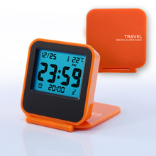 Lovely Portable Travel Electronic  Mini LED Alarm Clocks Night Cartoon Temperature Display Luminous Clock