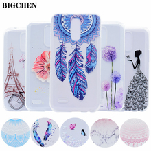 BIGCHEN For LG K10 2017 Case LV5 M250 Soft TPU Cover For LG K8 2017 LV3 Silicone Flower Cases For LG Stylus 3 Phone Fundas