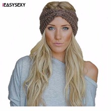 iEASYSEXY Hot Sales Fashion Two Vertical Corn Headband Autumn Hand Knitted Winter Warm Hair Accessory  Head-wear For 10 Colors