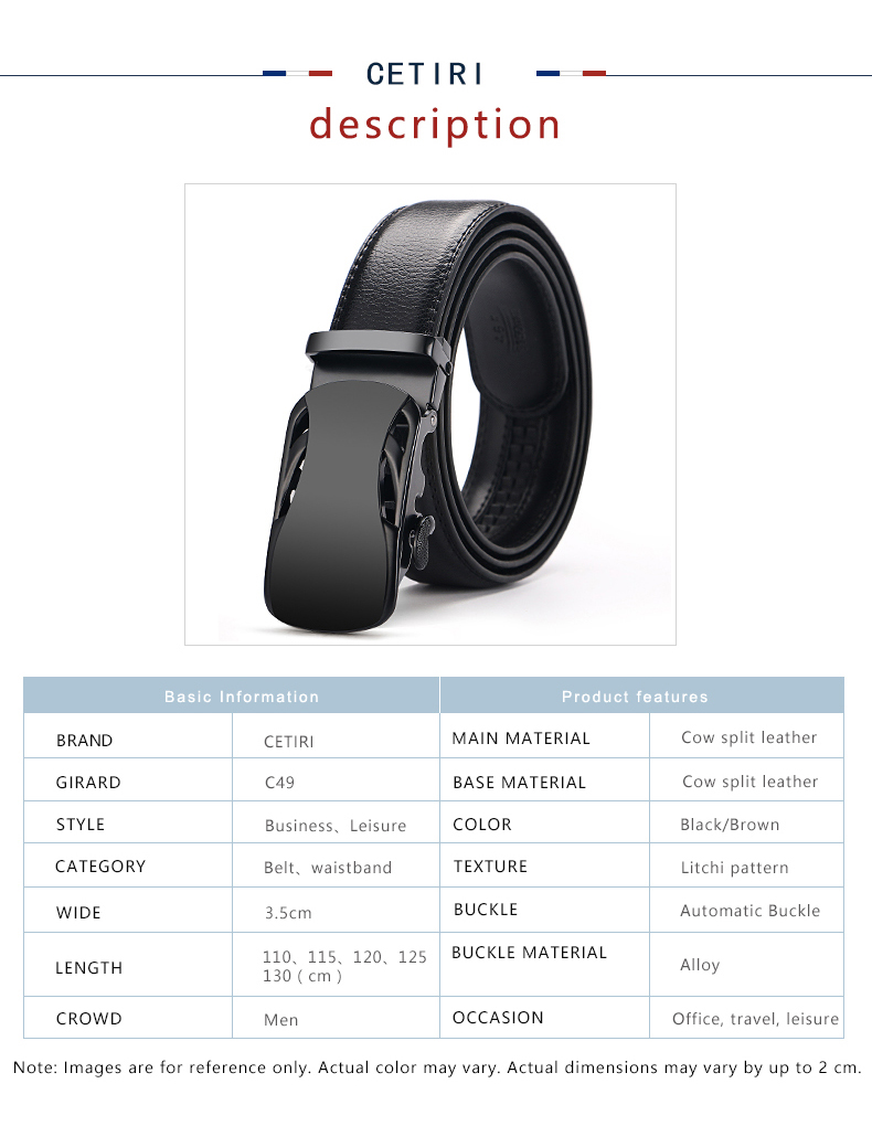 HTB1sca0csnI8KJjSsziq6z8QpXaR - CETIRI Men's Top Cowhide Genuine Leather Ratchet Dress Automatic Buckle Belt Luxury Belts Business Belts For Men Cinto 140cm