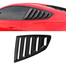 1 Pair ABS Car Side Window Louvers Scoop Cover Vent For 15-17 Ford Mustang DXY88(China)
