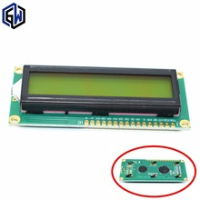 1pcs LCD1602 LCD 1602 Yellow and green screen with backlight LCD display LCD-1602-5V for arduino