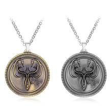 Hot Movie Game of thrones Necklaces House Greyjoy Octopus Round Shape Pendant & Necklace Fashion Jewelry Metal for Men Fans-30(China)