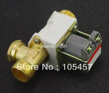"1/2"" BSPP Brass Solar Solenoid Valve 6VDC 12VDC 24VDC 220VAC N/C Normal Closed Non-Return Water Air Gas"