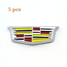 Rhino Tuning 5Set Metal Sticker Badge Emblem Auto Side Stripe Fender  For ELR ESV SRX ATS 184