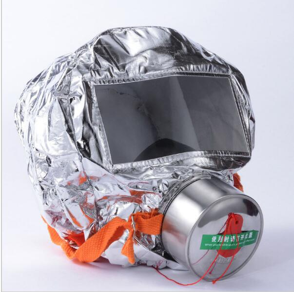 Fire escape mask Emergency Hood Oxygen gas masks Respirators 30 Minutes Smoke Toxic Filter Gas Mask with packing box Escape mask<br>