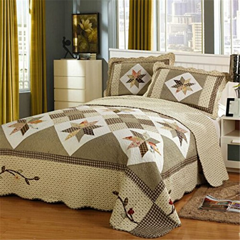 FADFAY-Cotton-Queen-Size-Luxury-Bedding-Set-Patchwork-Bed-Quilted-Bedspread-Comforter-Bedding-Sets-Cover-Cotton