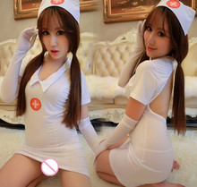 Buy Hot sale sexy lingerie plus size 3XL nurse babydoll dress backless big size sexy costume underwear uniform large size tangas