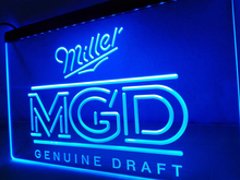 LE142- Miller Genuine Draft MGD Beer Bar NEW Light Sign