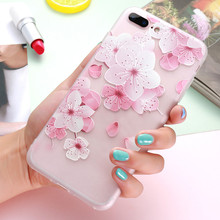 FLOVEME 3D Relief Flower Case For iPhone 6 6S iPhone X 10 7 Plus Soft Silicon Phone Cover For iPhone 7 6 6S Case Accessories(China)