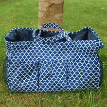 Large size Quaterfoil Garden tool bag with Mesh Pockets ,Wholesale Monogramable Appliance tote bag in 6 colors DOM-1010305