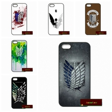 Phone Cases Cover For iPhone 4 4S 5 5S 5C SE 6 6S 7 Plus 4.7 5.5 Attack on Titan Scouting Legion Hard Phone Case