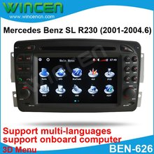 "6.2"" Car DVD Player for BENZ SL R230 (2001-2004.6) with 3D Menu multi-languages onboard computer Free Shipping Free Map(China)"