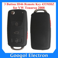 For VW Touareg 2008 3 Button ID46 Remote Key 433MHZ Made In China Free Shipping