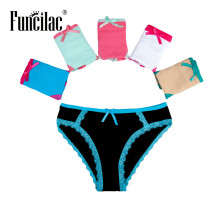 Buy FUNCILAC Woman Panties Cotton Low-Rise Briefs Underpants Knickers Sexy Tanga String Womens Underwear Lingerie 5pcs/Lot