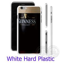 Guinness Beer Print Logo White Phone Case for iPhone 5S 5 SE 5C 4 4S 6 6S 7 Plus Cover ( Soft TPU / Hard Plastic for Choice )