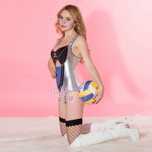 IDARMEE TOP Grade Football Babes Sexy Cheerleader Costume Nightclub Sexy Lingerie Jumpsuits School Girl Costume S9077(China)