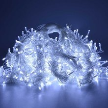 Wholesale 220V with end plug 6*3M 360 led icicle lights christmas light Xmas Wedding Party Decorations curtain icicle lights(China)