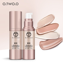 O.TWO.O 4Colors Liquid Foundation Flawless Coverage Base Professional Waterproof Whitening Moisturizing Cream Makeup Foundation(China)