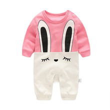 Best Quality Newborn Baby Summer Rompers 2017 Cute Toddler Baby Girl Boy Rabbit Jumpers Romper Playsuit Outfits Clothes 0-36M