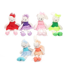 45cm Cute Rabbit with Pink Dress Baby Plush Toy Soft Ballet Bunny Rabbit Doll Kids Comfort Appease Doll Best Gift for Children(China)