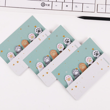 3PCS Mini Animal 5 Colors Cat Claws Cute Sticky Notes Memo Pad School Supplies Planner Sticker Paper Bookmarks Korean Stationery