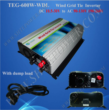 tie grid wind inverter 10.8-30v 600w dc to ac pure sine wave converter