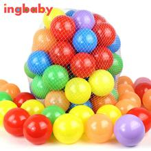 50pcs/lot New Diameter 5.5cm Thick Green Plastic Sea Ball Safety Multi-color Toy Ball Ocean Ball Pool Toy WJ811Q50 ingbaby