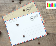 New fashion air post style Paper Envelope DIY Gift Envelope Wholesale(China)
