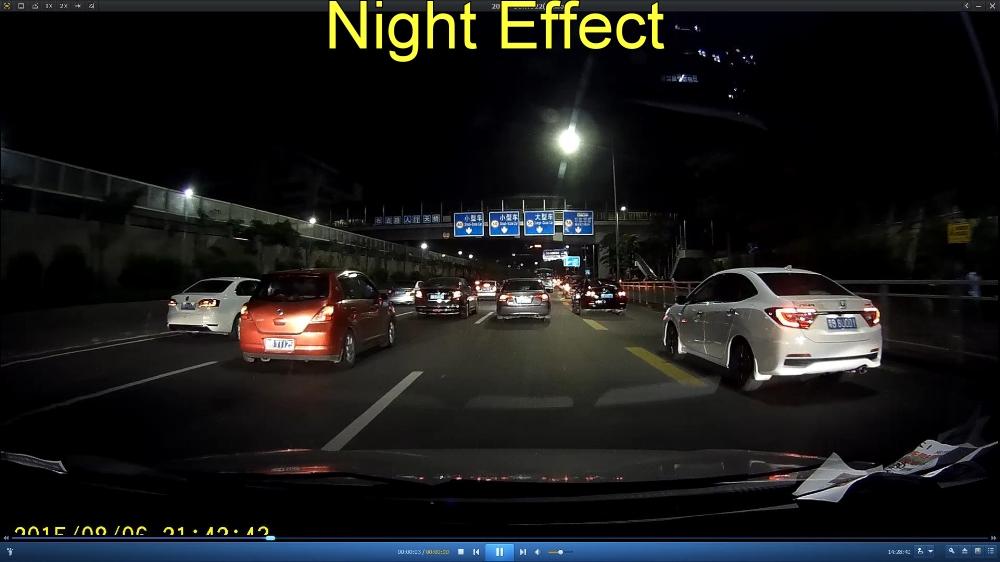 Car DVR Night Effect