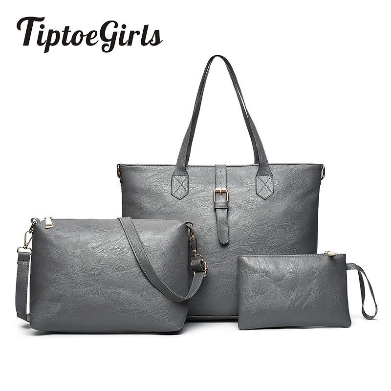 New Europe And the United States Fashion Three-Piece Mother and Daughter Shoulder Messenger Bag Wild Large Capacity Handbag<br>