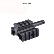 Airsoft Gear Parts Accessories E&C Tri-Rail mount Adaptor Connector for Warrior MB01/L96 Sniper Black(China)