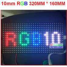 10mm pixel full color module indoor/semi-outdoor hub 75 1/8 scan 320*160mm 32*16 pixel smd 3 in 1 rgb display p10 led module(China)