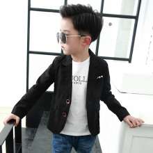 2018 New Boys kids Fashion Children Style Coat Kids Leisure Suit Coat Formal Slim Outerwear black Color jacket(China)
