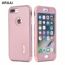 Shockproof Full Protective Case for iPhone 7 7 Plus 6 6S Plus 5 5S SE Luxury Hybrid Silicone Armor Hard Back Cover for 7/7 Plus(China)