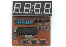 4 digital electronic clock (electronic production suite, spare parts) AT89C2051 four digital clock kit(China)