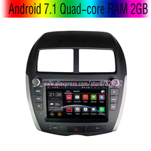 Free Shinpping Android 7.1 Quad-core RAM 2GB Car DVD Player For Mitsubishi asx With 3G/wifi USB GPS BT