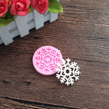 Snow Flake Shape Chocolate Candy Jello 3D Silicone Mould Cartoon Figre/Cake Tools Soap Mold fondant Cake Decoration