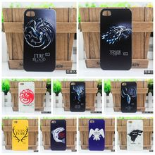 Ice and Fire Cover Relief Shell For iPhone 3G 4 4S 5 5S 5C SE Cool Game of Thrones Phone Cases For Apple iPhone 6 6S 7 Plus(China)